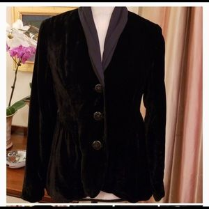 J. Jill Velvet & chiffon steampunk jacket